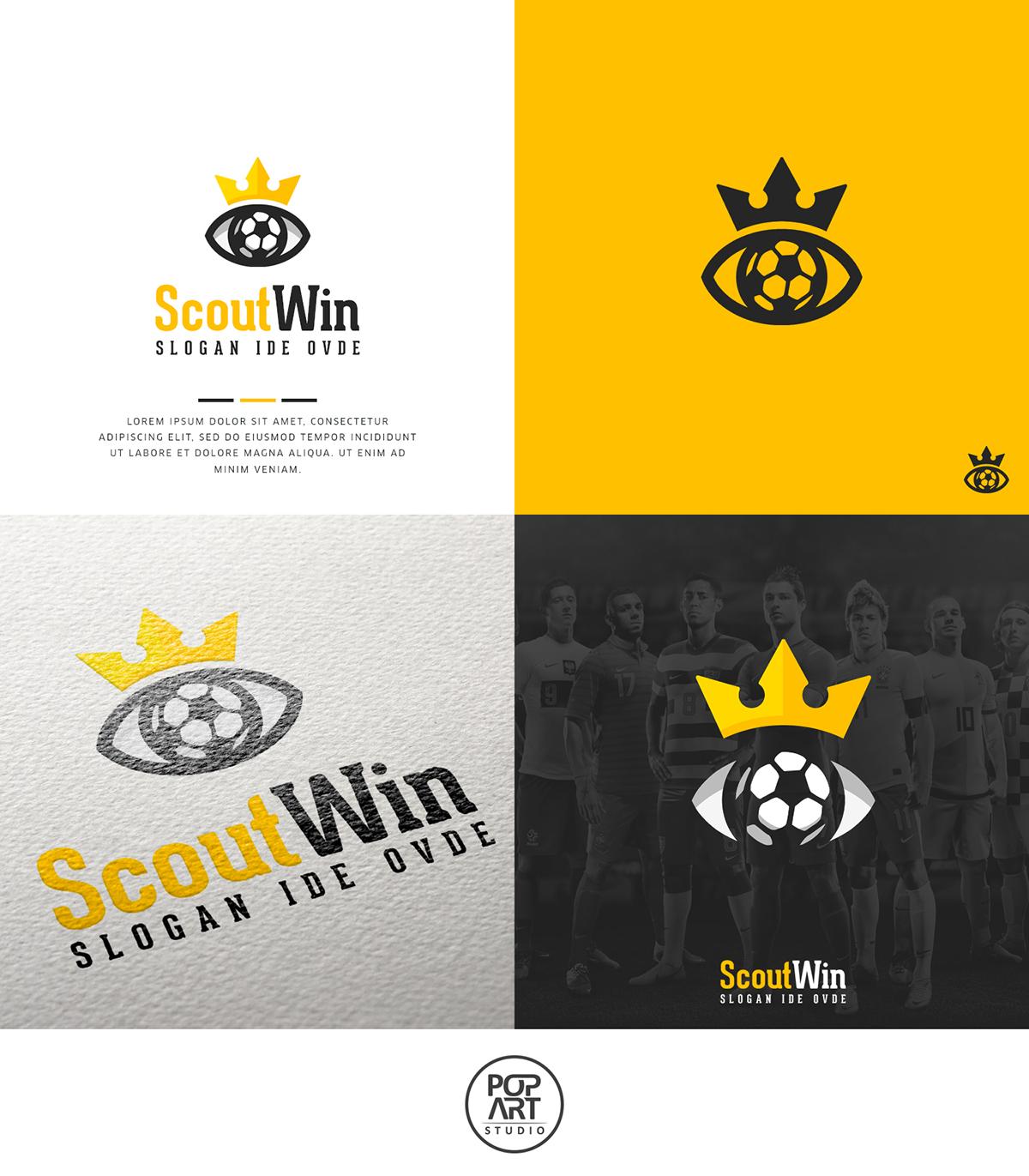 Scoutwin logo design first draft