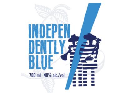 Independently blue illustration
