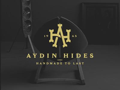 AYDIN Hides logo logo design chair stool armchair skin animal design logo rug furniture company leather