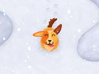 Dog illustration preview