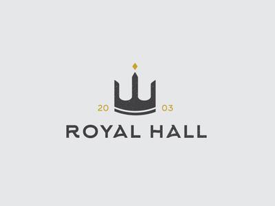Royal Hall logo design