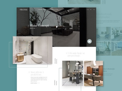 Porcelanosa web design creative home decoration homepage simple website modern web design