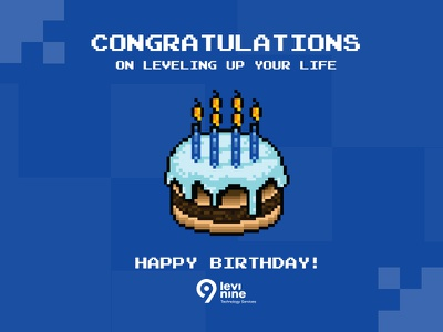 Levi9 birthday card software bday cake cake novi sad card design birthday card bday birthday it company levi9