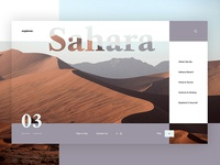 Explorer Travel Website - Sahara Concept