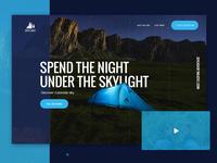 Under the skylight - website concept