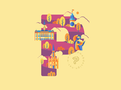 Autumn & Novi Sad colors autumn sights p novi sad illustration vector typography design