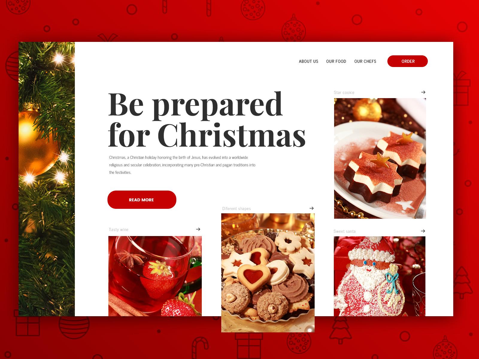 Restaurant Webdesign for Christmas by PopArt Studio | Dribbble ...