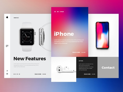 Apple Redesign Concept web modern uidesign iwatch iphone apple concept branding design webdesign