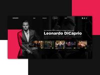 Leonardo DiCaprio UI Design