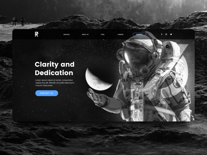 Accounting and Bookkeeping Agency Website Design website website concept black  white agency website website design web design moon astronaut space suit space minimal header grey black branding agency bookeeping accounting ux ui
