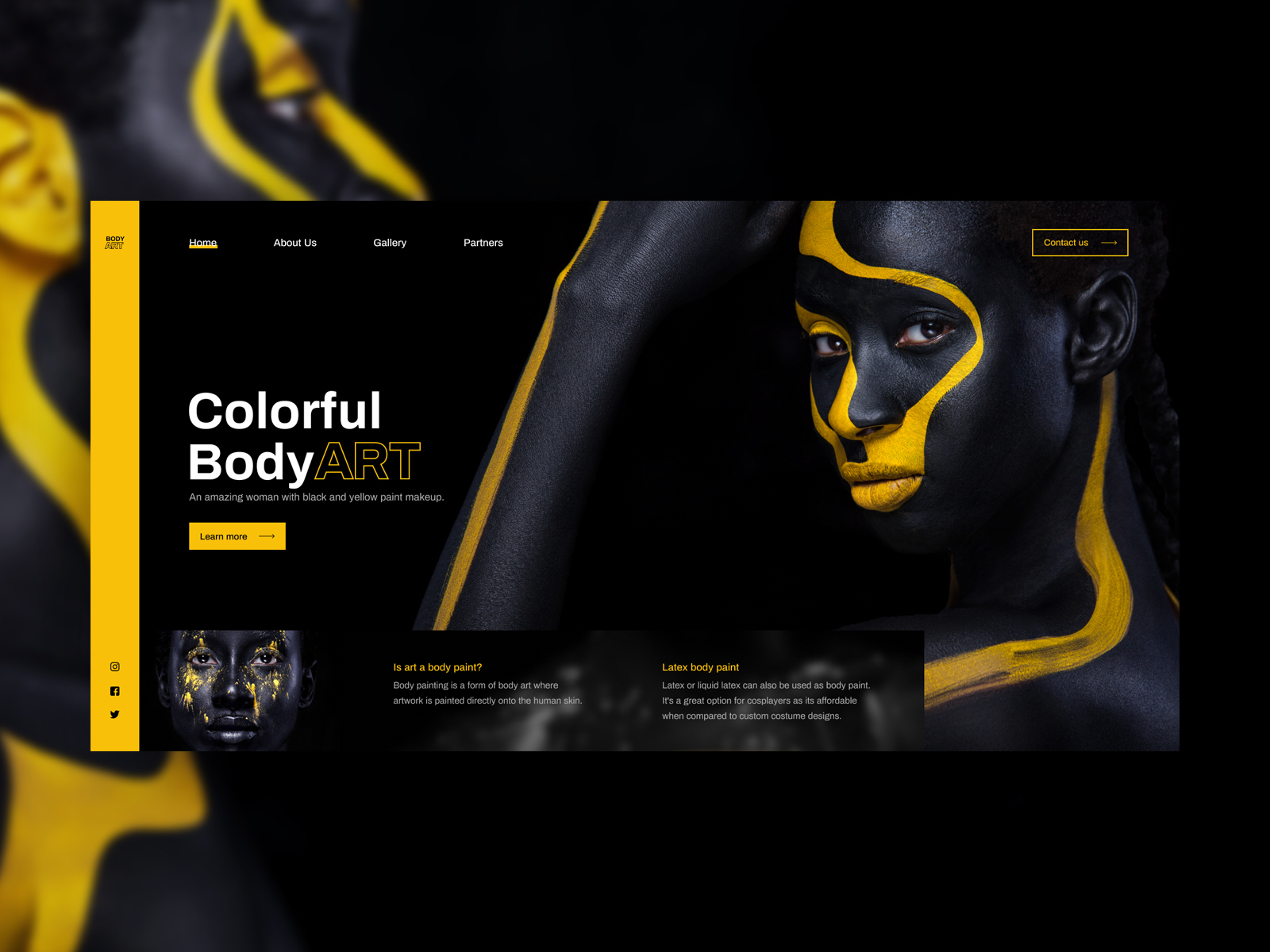Body Paint Web Concept By Popart Studio On Dribbble