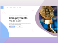 Cryptocurrency - Landing Page Header Concept