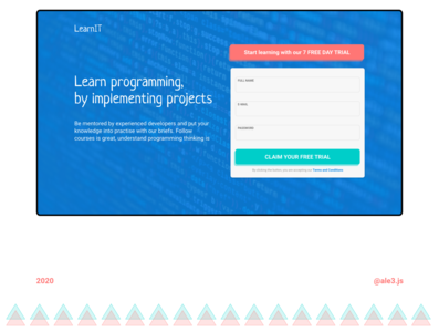 E-learning | Landing page hero