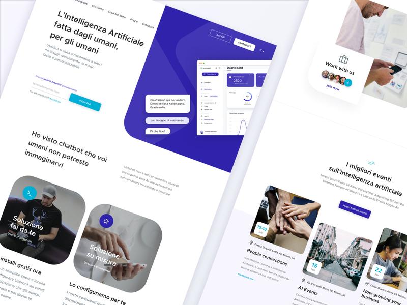 Userbot - Home Page homepage design webdesign ui startup company home homepage design web design clean website web