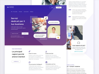 Userbot - What We Do Page clean services business webdesign ui landing page startup company saas landing design web design web website