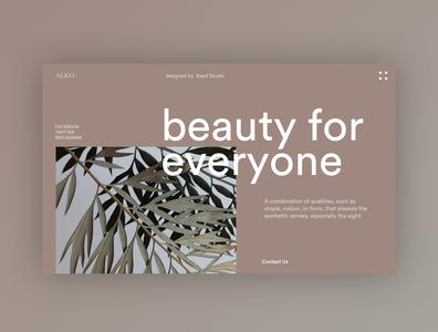Beauty Company - Home Exploration homepage website web design web ui design ui typography minimal home fashion beauty design concept clean