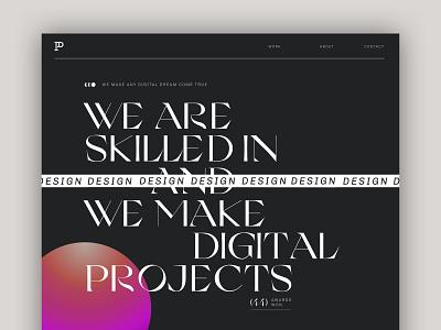 Agency Website - Home - Patrick David Studio minimal branding webdesign website web ui typography portfolio grid design