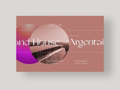 Agency Website - Home Projects - Patrick David Studio portfolio home homepage typography design web design minimal website ui web
