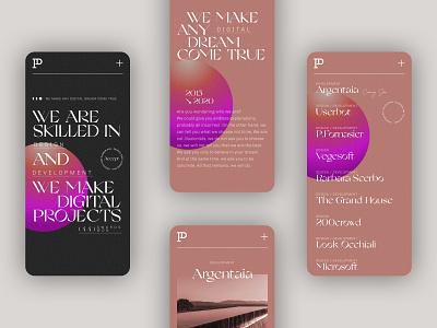 Agency Website - Mobile - Patrick David Studio portfolio site portfolio design responsive mobile web design web ui portfolio typography website minimal design