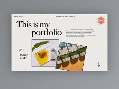 My new Portfolio - Mood Exploration website ui portfolio homepage webdesign typography design web design clean minimal