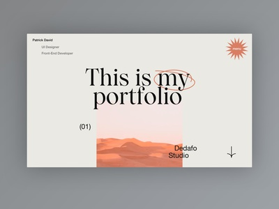 My new Portfolio - Mood Exploration home design typography web design clean minimal website web ui portfolio design portfolio