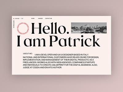 My new Portfolio - Mood Exploration portfolio design portfolio ui web website minimal clean web design typography design home