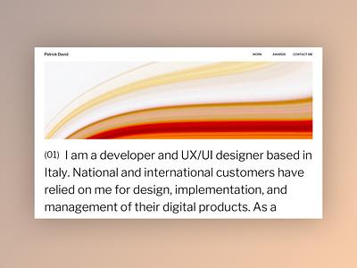 My new Portfolio - Mood Exploration home portfolio design portfolio minimal web website ui clean typography design web design