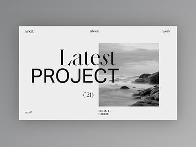My new Portfolio - Mood Exploration home portfolio design portfolio design typography web design clean minimal website web ui