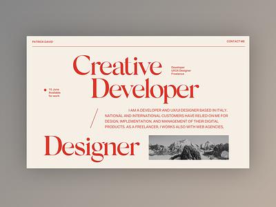 My new Portfolio - Mood Exploration portfolio design portfolio typography design web design clean minimal website web ui