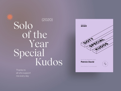 Patrick David - Solo of the Year Special Kudos for 2020 doty award design web design website web ui