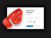 Beats headphones UI Concept