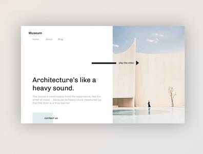 Architecture studio - Home Exploration museum web design webdesign architect website design ux website home homepage clean web ui minimal architect architecture