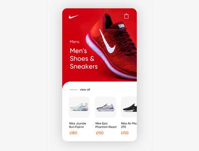 Shoes App Shop Exploration product design app ecommerce app shopping app mobile design mobile ui app concept red nike clean design shoes app design ux ui