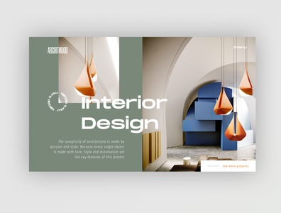 Architecture Studio - Home Page Exploration webdesign minimal web ux ui homepage web design clean design website architecture