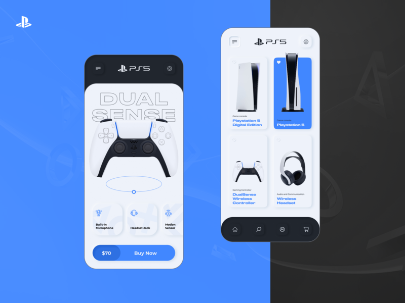 Playstation 5 - Store app concept design appmobile neumorph neumorphic neumorphism skeumorphism ux ui videogame sony playstation playstation5 ps5 app app design mobile app figma mobile games aplication ios