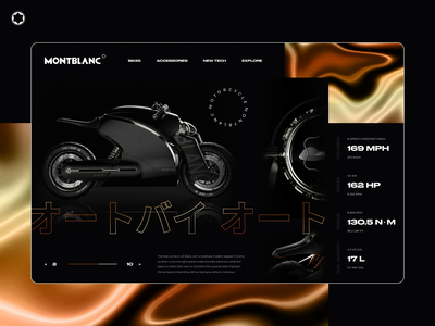 Montblanc - Motorcycle website concept design bike motorcycle webdesign interaction website design motion design animated website web design design montblanc motion ux uiux ui product minimal figma animation accessories