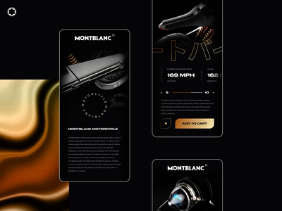Montblanc - Motorcycle mobile concept design appdesign mobile accessories animated animation bike design figma interaction minimal montblanc motion motion design motorcycle ui uiux ux app design mobile design product