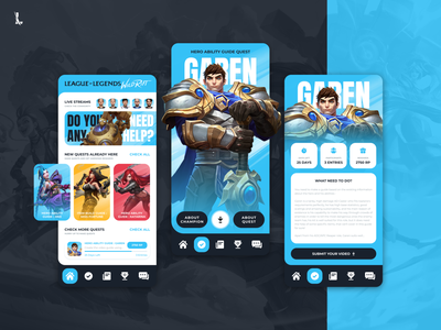 Wild Rift - UGC app platform concept design quest design riotgames mobile ui app ui minimal interface wildrift leagueoflegends games esports mobile design mobile mobile app app design app uiux ux ui figma