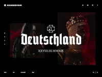 Rammstein website concept design
