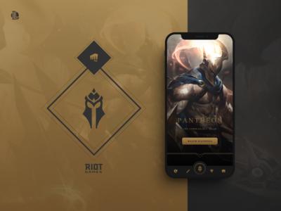 League of Legends Champions app concept design