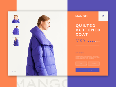 MANGO product card concept design