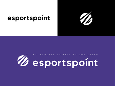 EsportsPoint - Ticket app logo and icon esports tournament championship tournament logotype design logos esport logo branding design application app ticket app esportslogo esports logo esports logo design icon design icon logodesign logotype logo