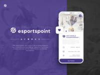 EsportsPoint ticket app - Promo page
