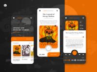Creepy Bookshelf book app for Weekly Warm-Up