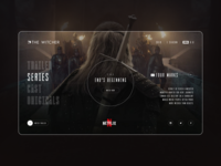The Witcher website concept design