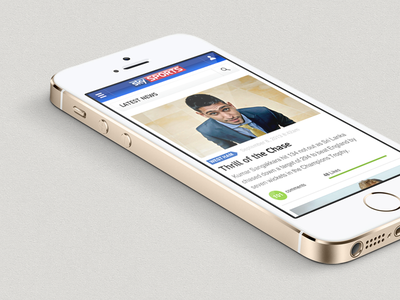 News List rwd html5 css ui iphone responsive sports