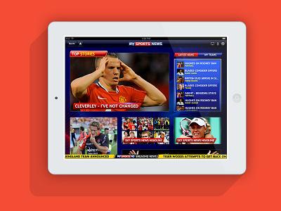 Sky Sports for iPad apple ui sports award winning ios app ipad