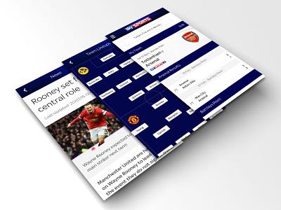 Sky Sports Football Score Centre apple clean ux ui sports football soccer ios app