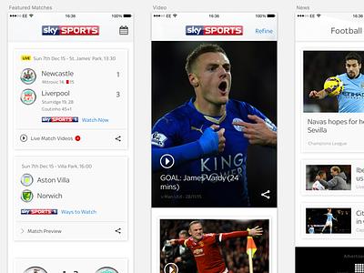 Sky Sports Goals App sketchapp sketch clean mobile ui sports app iphone ios