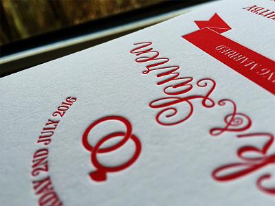 Letterpress Wedding Invitation illustration illustrator print invite invitation wedding letterpressed letterpress